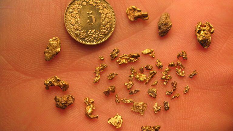 Gefundene Goldnuggets